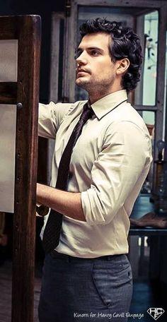Henry Cavill looking like a teacher :P - if he was my teacher GOD DAMN no work would ever get done haha :P