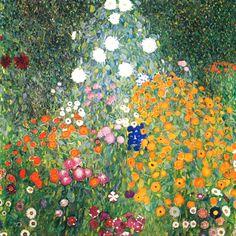 Gustav Klimt: Giardino floreale (1907) olio su tela. Stile: Art Nouveau. Periodo: Fase d'oro