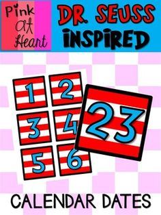 PDF Print and use - laminate for durability! Date Cards Fits in standard calendar pocket chart. Pocket Calendar, Calendar Date, Classroom Calendar, Classroom Ideas, Dr Suess, Teacher Hacks, Dating, Clip Art, Pdf