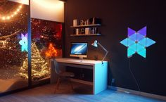 Illuminate your life, your way with the Nanoleaf Light Panels Smarter Kit. Nanoleaf Light Panels are a smart lighting product unlike anything you've seen before. Nanoleaf Panels, Modular Furniture, Furniture Design, Nanoleaf Designs, Brick Veneer Panels, Nanoleaf Aurora, Game Room Lighting, Lighting Ideas, Nanoleaf Lights
