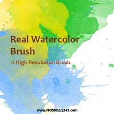 Watercolor - Photoshop Brushes by ~noskill1343 on deviantART