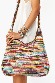 Crochet Patterns Bag Rainbow crochet Bag – for inspiration Crochet Shell Stitch, Crochet Tote, Crochet Handbags, Crochet Purses, Love Crochet, Diy Crochet, Crochet Crafts, Purse Patterns, Crochet Patterns