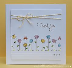 Sarah's Little Snippets: Simple thank you card -- Gilly Haigh has a MILLION great card ideas!!!