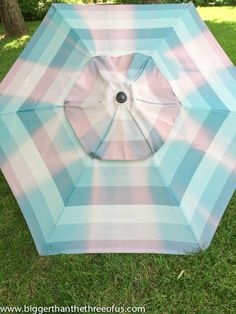 Not only will it turn out beautiful, it will also be waterproof!! So, upcycle an Old Patio Umbrella to a Beautiful Painted One & save a buck...or 100! | Hometalk