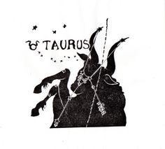 Taurus Constellation Print in Black and White, Constellations of the Zodiac Lino Block Print Collection, Taurus the Bull – aquarius constellation tattoo Bull Tattoos, Taurus Tattoos, Zodiac Art, Astrology Zodiac, Aquarius Horoscope, Zodiac Signs, Aquarius Constellation Tattoo, Red Giant, Constellations