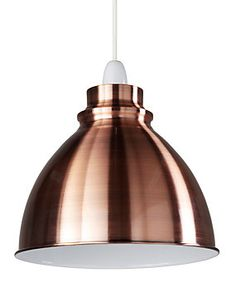 Brushed copper lined lamp shade 40 colours choices bedrooms and retro small ceiling lamp shade aloadofball Image collections
