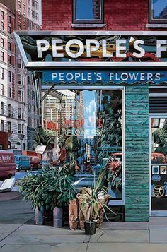 Reflections, Urban Realism by Richard Estes art works) Ashita No Nadja, Pop Art, Hyper Realistic Paintings, Detailed Paintings, Amazing Paintings, Art Paintings, Amazing Art, Architectural Features, Built Environment