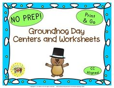 Groundhog Day Glyph Book List Art Project Writing Activity Websites Group Activity AND 9 thematic worksheets.
