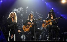 Haley Reinhart performing with Slash and Myles Kennedy at Muhammed Ali's birthday party