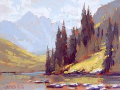 "David Mensing Fine Art -  ""Pneumerous"" (9x12) In anticipation of summer in the high country."