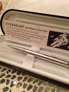 Eversharp Astronaut Style Space Pen in Original Case Never Used by palmbeachmiseenplace on Etsy