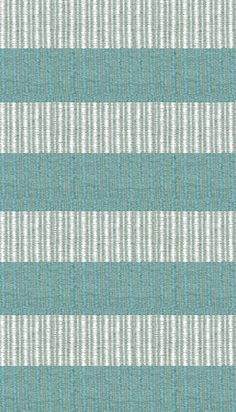 Hampton Indoor/Outdoor PVC Rug - Turquoise and White