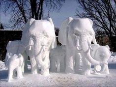 20 sculptures sur glace impressionnantes