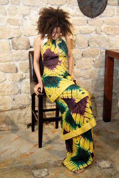 'Adire' Tie dye dress