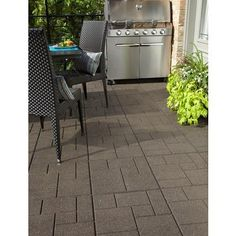 EnviroTile - Cobblestone Envirotile, Earth - 18 Inch x 18 Inch  - 1040 Pack - 5000579 - Home Depot Canada