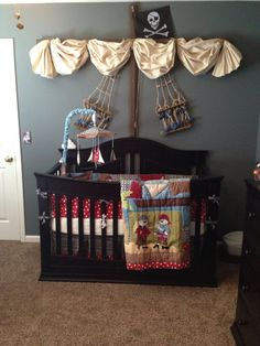 """Pirate Baby Room """" Baby nursery decoration – baby room decorations, Many baby room decoration ideas, including hundreds of baby bedding collections and thousands of room decoration accessories, can be. Pirate Baby Rooms, Pirate Nursery, Baby Boy Rooms, Baby Boy Nurseries, Neverland Nursery, Neutral Nurseries, Nursery Neutral, Nursery Themes, Nursery Room"""