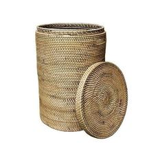 Brilliant Imports Rattan Laundry Basket With Top Beige By ($144) ❤ liked on Polyvore featuring home, home decor, small item storage, baskets, ivory basket, rattan basket, hand woven basket and handwoven baskets