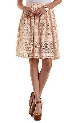 Knee-Length A-Line Skirt  1453a7d10