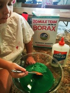 Letter S day.  Homemade Slime.   Great texture!  Cool project.