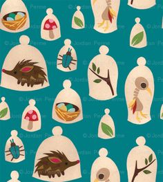 Unusual Specimens fabric by jordan_elise for sale on Spoonflower - custom fabric, wallpaper and wall decals