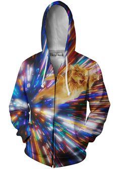 Cat Vortex Zip-Up Hoodie