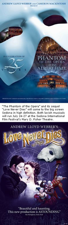 'Phantom of the Opera' and 'Love Never Dies' in HD at the Fisher Theatre