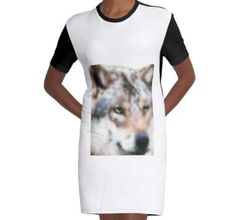 'Realistischer Wolf' by Wolfteamshop Wolf, Beautiful Wolves, Mens Tops, Shopping, Fashion, Gowns, Moda, Fashion Styles, Wolves