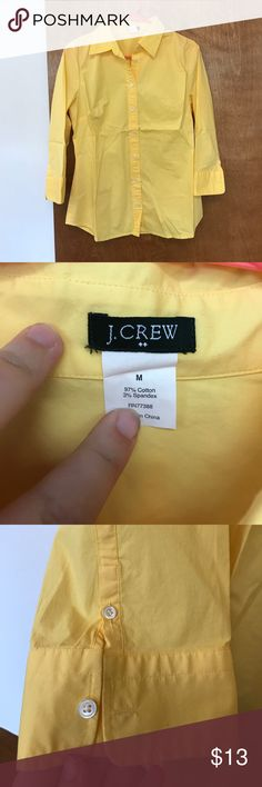 J Crew button down size M Gently loved J Crew button down size M. No rips or stains. Open to offers. J. Crew Tops Button Down Shirts