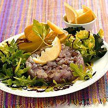 Assiette de thon rouge mariné