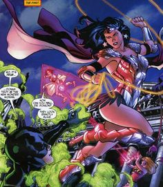 Donna Troy takes over for her mentor as the new Wonder Woman.  Art by Terry Dodson.