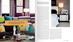 "Colorful Contemporary Lisa Gilmore Design featured in SRQ Magazine, November 2015 ""Color Code"""