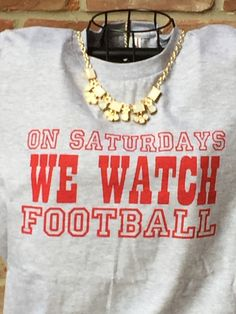 A personal favorite from my Etsy shop https://www.etsy.com/listing/460794026/on-saturdays-we-watch-football-heather