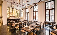 Marta Restaurant, a palatial new pizza-leaning Italian spot from Danny Meyer and Nick Anderer. It's now open at the Martha Washington hotel.