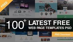 100+ Latest Free Web Page Templates PSD.