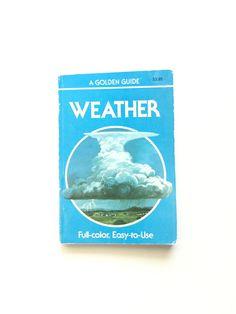 A Golden Guide: Weather  #vintage #book #golden #guide #bertram #bergamot #etsy #homeschool #fieldguide