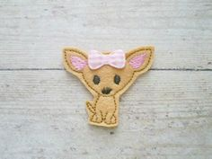 Hey, I found this really awesome Etsy listing at https://www.etsy.com/listing/175419765/chihuahua-felt-applique-chihuahua