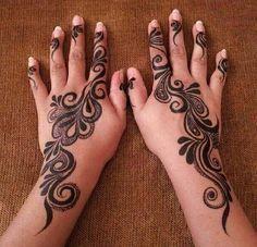 ❤ swirly henna