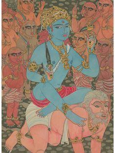 Paramchaintanya Men — Bhairava-Shiva as the Master of Demons . Pichwai Paintings, India Painting, Krishna Art, Shiva Art, Hindu Deities, Yoga Art, Hindu Art, Art Store, Gods And Goddesses