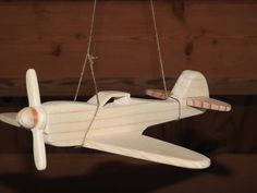 Child's toy wooden airplane