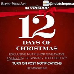 By @nutrishopusa via @RepostWhiz app: Tis the season for GIVEAWAYS  Turn your post notifications ON because we are spreading the Christmas cheer and you don't want to miss out... Stay tuned for more details  #NutrishopUSA #teamnutrishop #nutrishop #gains #workout #gym #fitness by worlds_ns