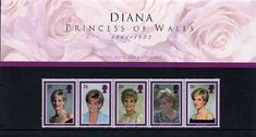 Shop 1998 Diana, Princess of Wales Stamps in Presentation Pack. by Royal Mail. Uk Stamps, Postage Stamps, Princess Of Wales, Princess Diana, Commemorative Stamps, Design Your Dream House, Still Love You, Lady Diana, Stamp Collecting