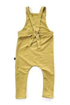 Handmade Super-Soft Mustard Bamboo Baby Toddler Overalls | LilHavenCo on Etsy