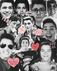 Ah Jack so cute Marcus Butler, Jack Finn, Finn Harries, Caspar Lee, Tyler Oakley, Nicole Harrison, Jim Chapman, Ricky Dillon, Joey Graceffa