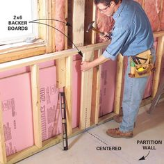 Finishing a basement can turn storage into a living space. Framing and insulating basement walls is the core of a basement finishing project. Insulating Basement Walls, Framing Basement Walls, Basement Insulation, Dark Basement, Basement House, Basement Bedrooms, Basement Flooring, Basement Ceilings, Basement Bars
