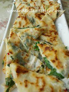 Ispanaklı Kolay Gözleme - izmirdenlezzetler  I'm going to make this recipe in Turkish!!