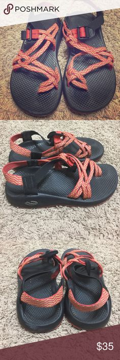Chaco Zx/2 size 8.5 Good condition considering they have been worn on and off for the past 3 years ! I love these chacos but 2 new pairs and just don't wear these anymore! Looking for a good home for my absolute fav pair of shoes! #chacolyfe Chacos Shoes Sandals