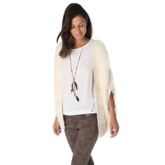Wendy Cream supersoft faux fur cardigan