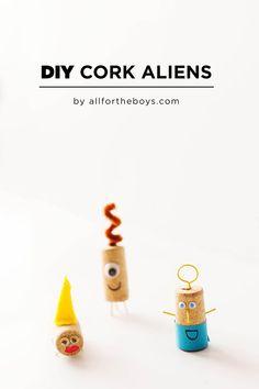 DIY Recycled Cork Aliens