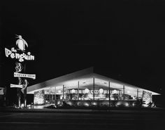 All sizes | The Penguin Coffee Shop, Santa Monica 1959 | Flickr - Photo Sharing!