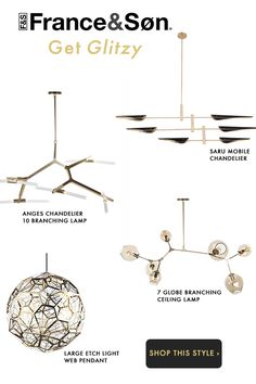 Mid-Century Modern Lighting: Ceiling Lights, Chandeliers, Lamps and Wall Sconces Mid Century Modern Lighting, Mid Century Modern Decor, Midcentury Modern, Mobiles, Mobile Chandelier, Chandeliers, Boho Lighting, Pendant Lighting, Cool Light Fixtures
